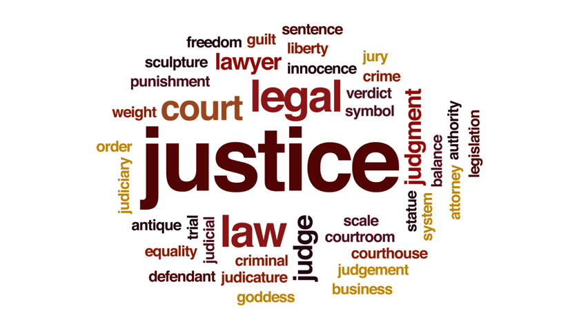 Justice animated word cloud, text design animation. | Shutterstock HD Video #25884911