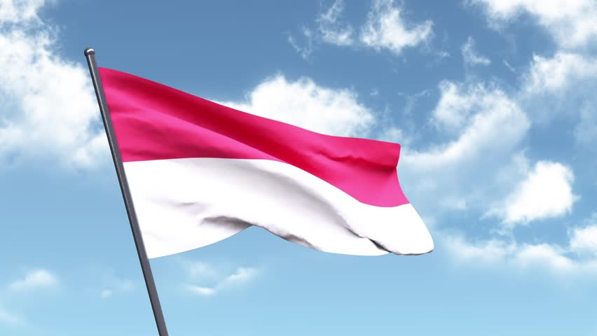 3D Animated Flag of Indonesia