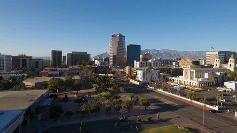 Aerial view of downtown Tucson, Arizona