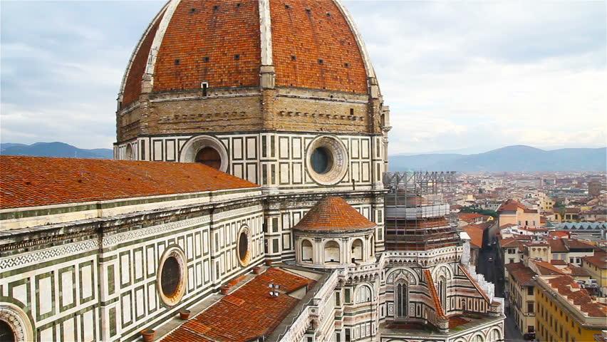 Florence, the famous dome of the Duomo, Santa Maria del Fiore | Shutterstock HD Video #25935311