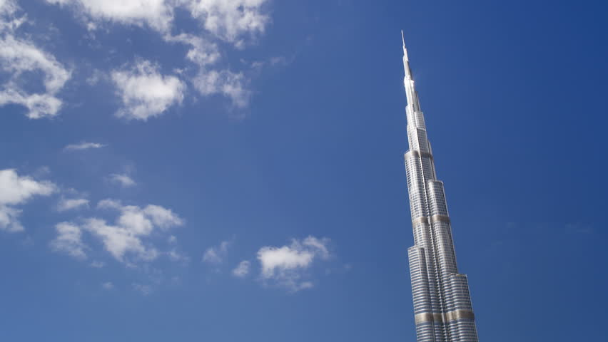 DUBAI, UNITED ARAB EMIRATES - CIRCA MAY 2011: a Futuristic Modern Design Structure, the Burj Khalifa was completed in 2010 and is the worlds tallest building, Dubai