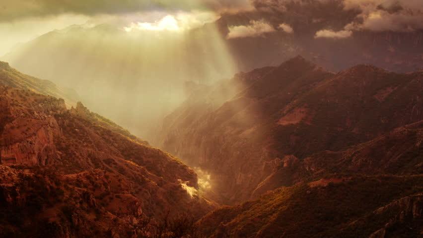 timelapse of the incredible copper canyon (Barrancas del Cobre), northern mexico.