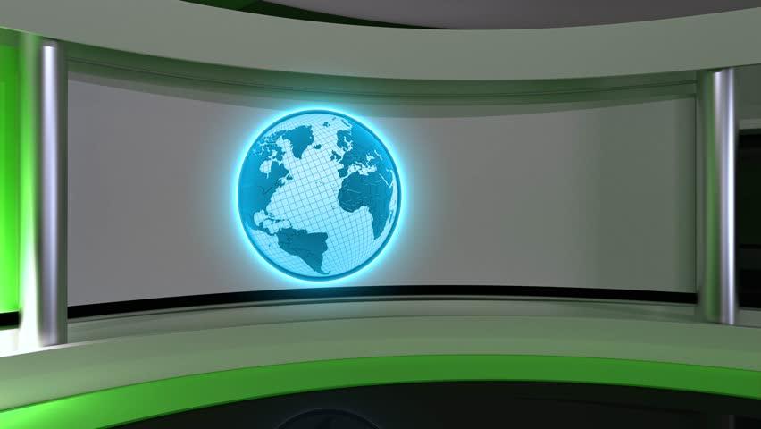 Loop Earth Tv Studio News Breaking Background