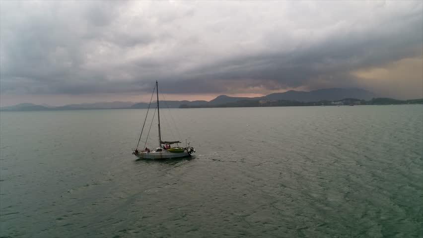 Boat sailing, motor boat in beautiful sea | Shutterstock HD Video #26052578
