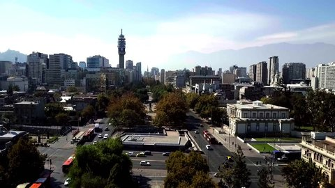 Aerial view of Santiago do Chile