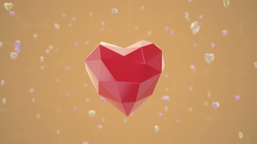 Low Poly Heart Shape Floating Stock Footage Video (100% Royalty-free)  26139311 | Shutterstock