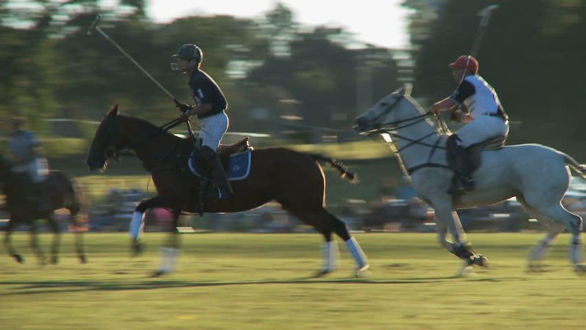NEWPORT, RHODE ISLAND - CIRCA SEPTEMBER 2007: Polo match at sunset