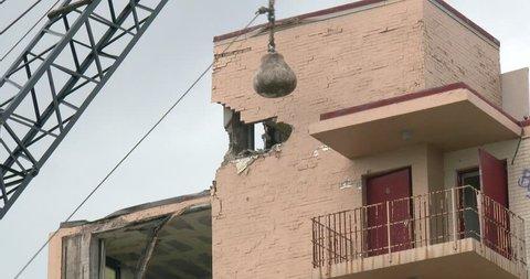 Wrecking Ball - Old Hotel - Demolition