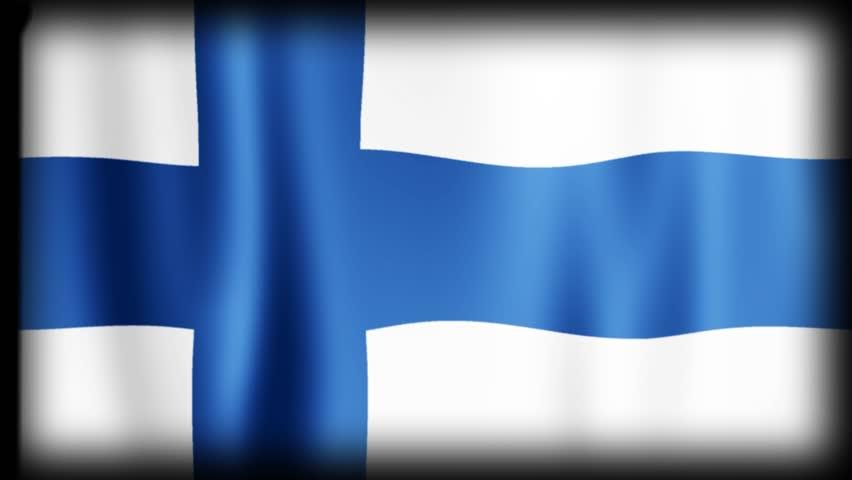 Flag Loop Animation - FINLAND