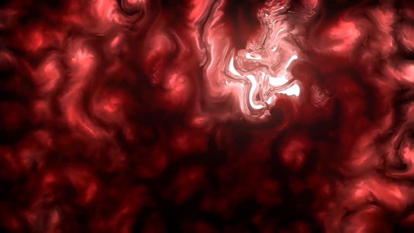 Hot, Red Biological Microscopic And Extraordinary Dream or Hallucination