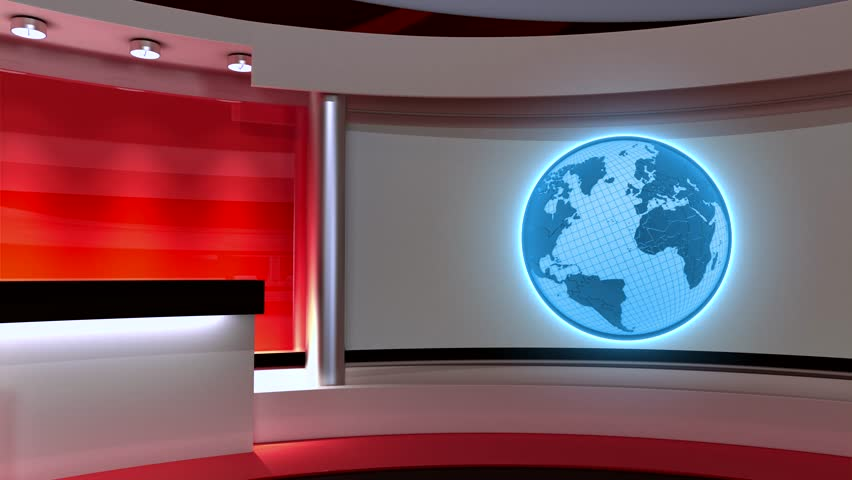 Tv Studio. News Studio. Studio. Stock Footage Video (100% ...