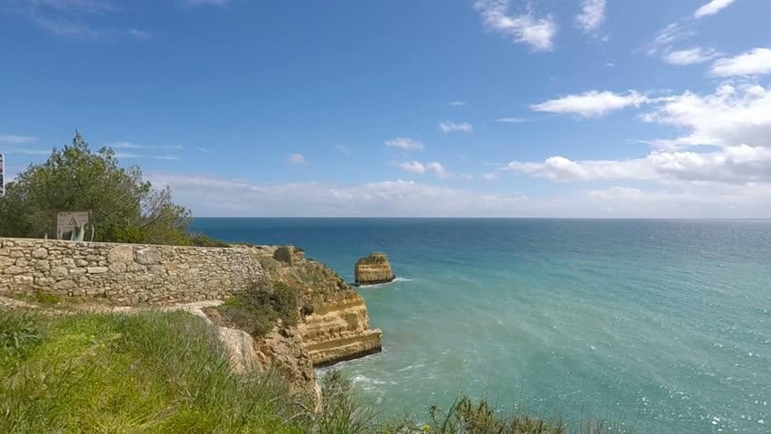 marinha beach at portugals algarve coast