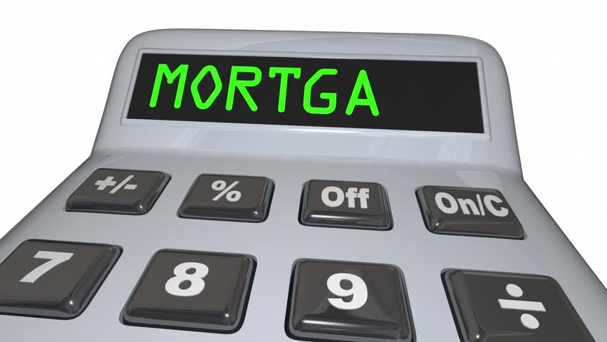 Mortgage Calculator Figure Loan Amount 3d Animation