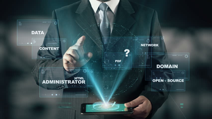 Businessman with CMS Content Management System hologram concept | Shutterstock HD Video #26370431