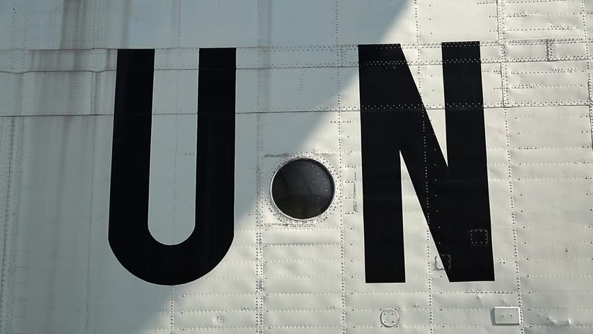 United Nations Abbreviation Inscription On Stock Footage Video 100