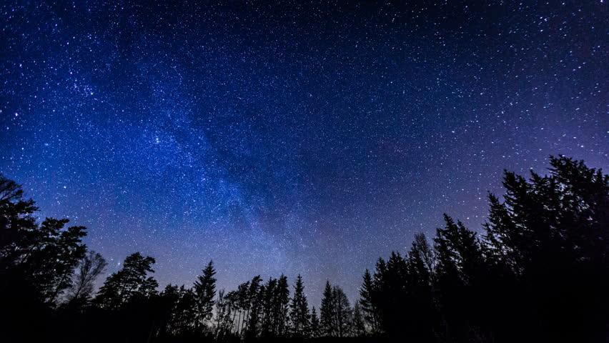 Starry night sky 4k timelapse 3840x2160 uhd stock - Starry sky 4k ...