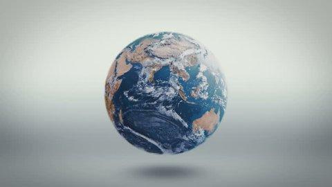 Earth Turntable Rotating Slowly 4K, Seamless Looping