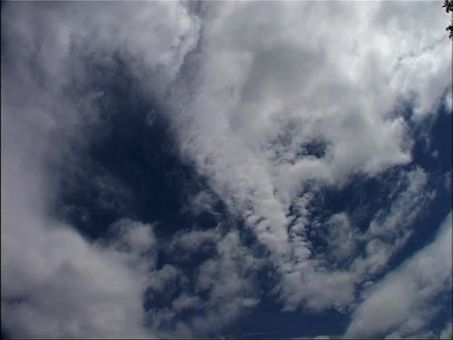 Timelapse of two layers of clouds moving at different speeds overhead - Loopable. #2644121