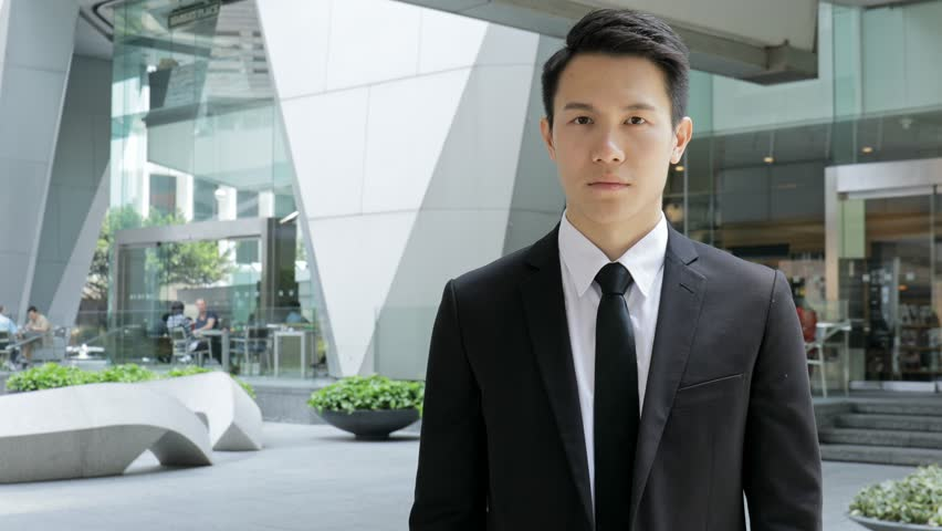 Confident businessman at outdoor