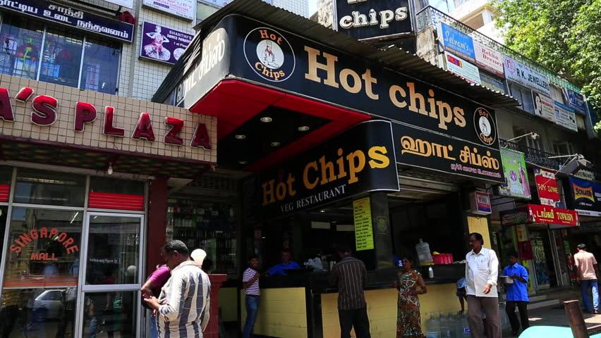 Tamil Nadu India June 2017 Tilt Up Shot Of Restaurants Chennai Stock Footage Video 2648921 Shutterstock