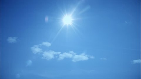 sunny day blue sky clouds transition