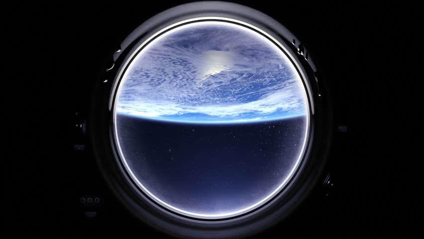 Earth as seen through window of International Space Station. Flight right. International space station is orbiting the Earth. ISS, Space, earth, orbit, ISS, Elements furnished by NASA. | Shutterstock HD Video #26555951