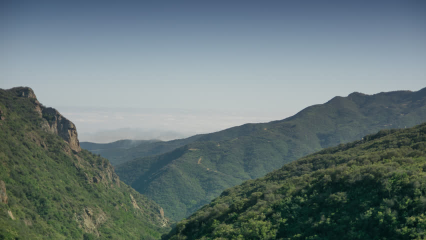 Malibu Mountains Time lapse. Clouds and Mist with a touch of fog 4k #26559971