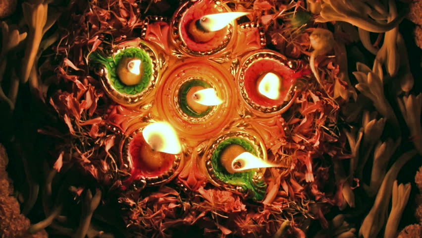 Deepabali , Deepavali or Deepawali- the festival of lights, is widely celebrated in India and now all over the world.Rangoli Diyas- colourful and decorated candles are lit in night on this occassion.