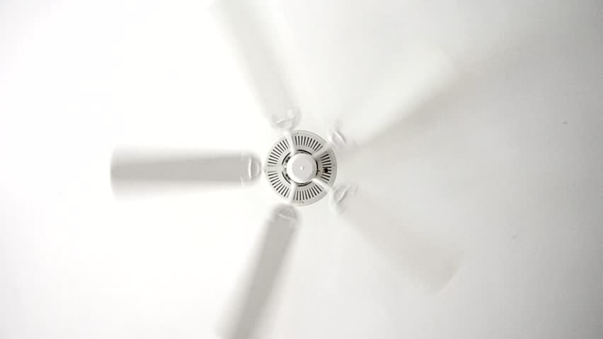 Rotation of ceiling fan.