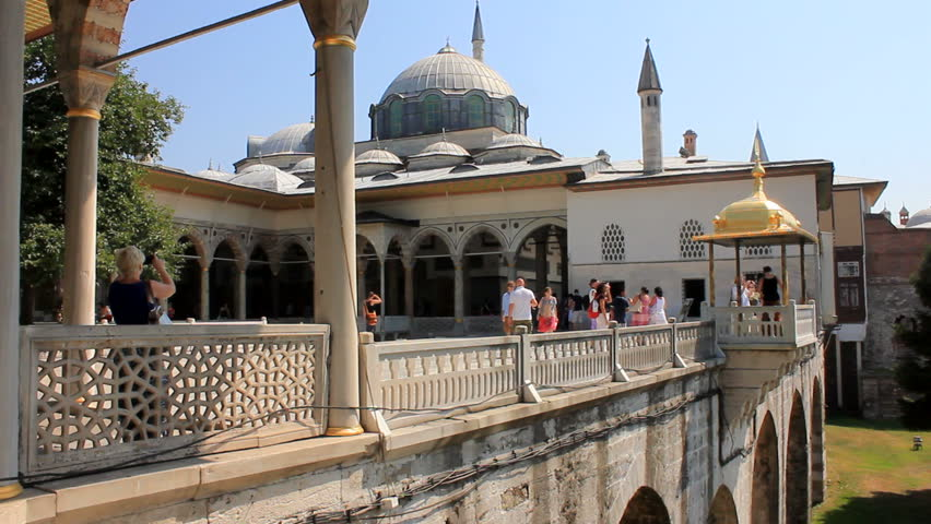 ISTANBUL, TURKEY - 26 July 2012: The Topkap Palace is a large palace in Istanbul, Turkey, built by the Ottoman Sultans and used as a residence for around 400 years. 26 July 2012 - ISTANBUL, TURKEY.