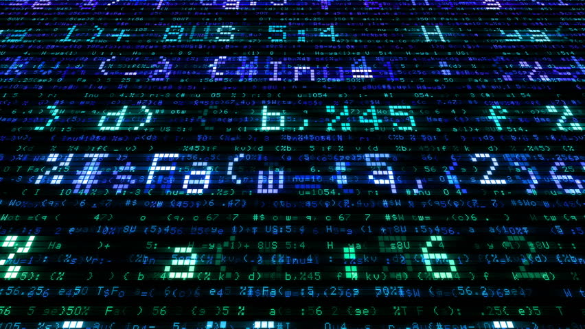 Digital world data space number text. | Shutterstock HD Video #26609171