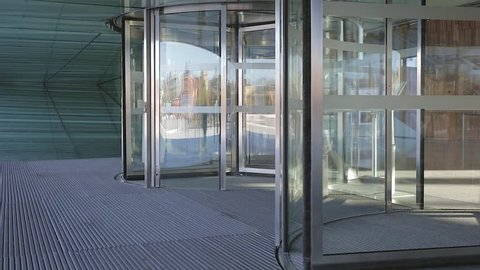 Automatic Rotation Revolving Glass Door