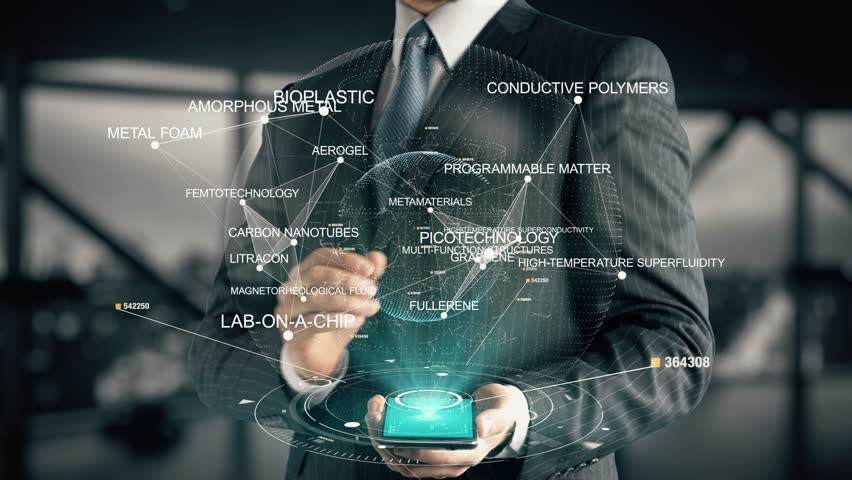Businessman with Picotechnology hologram concept | Shutterstock HD Video #26638768