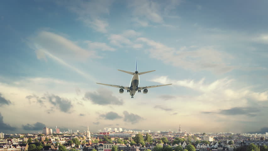 Airplane Landing Amsterdam Netherland | Shutterstock HD Video #26691181