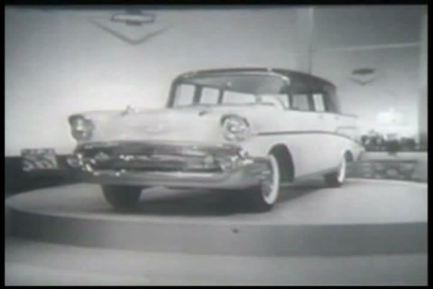 1950s: Advertisement for the new 1957 Chevrolet.