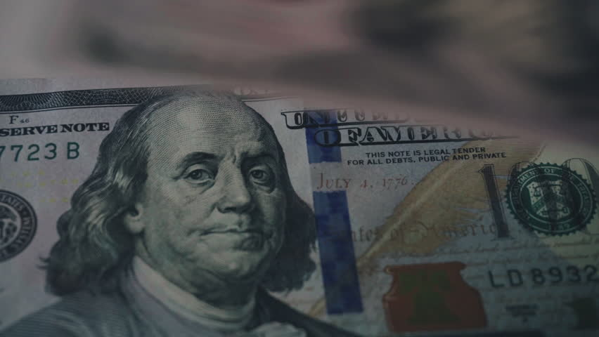 Counting brand new 100 dollar bills close-up. New barkoskie U.S. banknotes. Global crisis in America. Downscale from 4k    Shutterstock HD Video #26725351