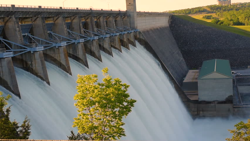 Table Rock Dam Stock Footage 4k