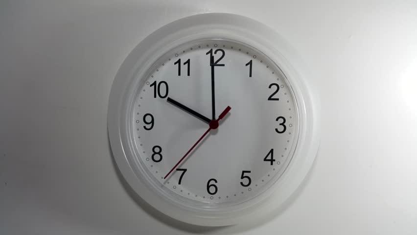 Clock ticking to 10 o'clock
