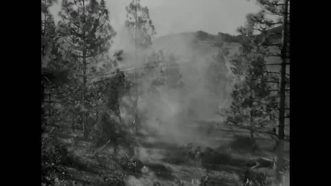 1940s: U.S. Army propaganda film in World War Two urges men to put aside the rules and kill for the good of country.