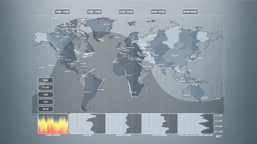 Vector illustration business info motion graphic vector network services map of the world with links and graphs hd stock footage clip gumiabroncs Image collections