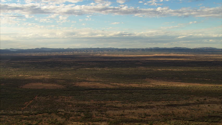 Flying over Australian Outback in the Northern Territory near Alice Springs