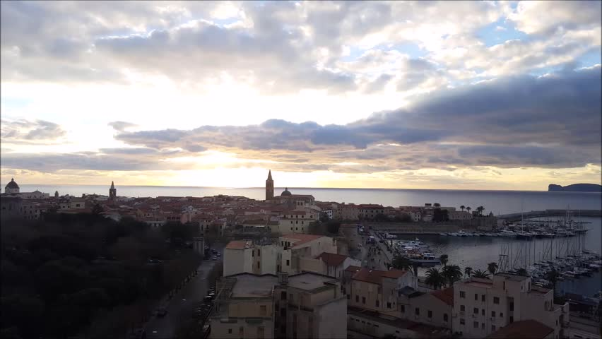 Alghero skyline, Sardinia, Italy