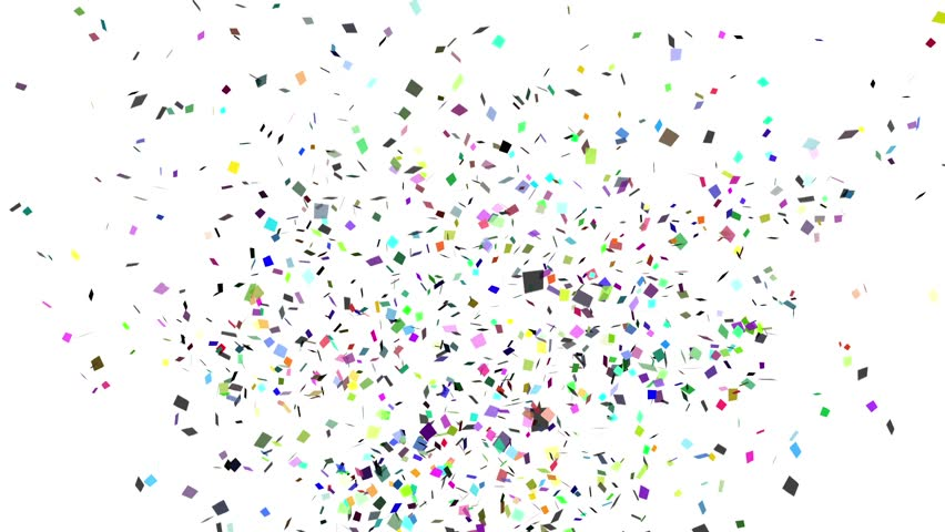 Explosion of confetti-isolated