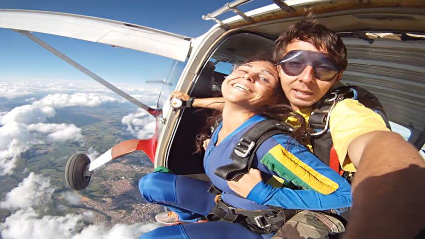 Skydiving tandem selfie   Shutterstock Video #27065425