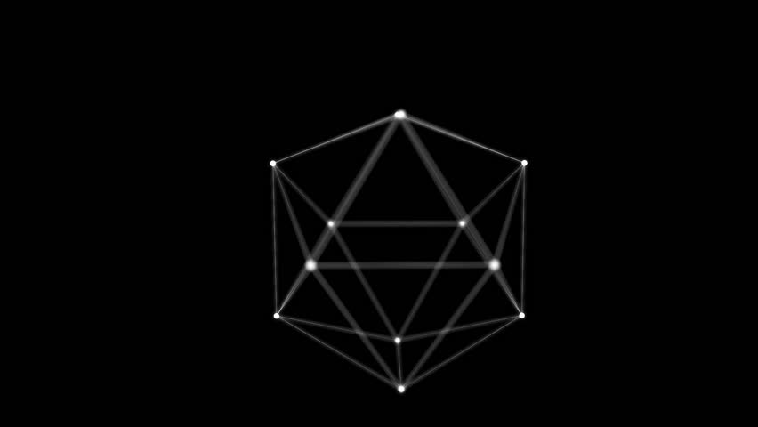 Abstract polygonal structure, 3d animation | Shutterstock HD Video #27085192