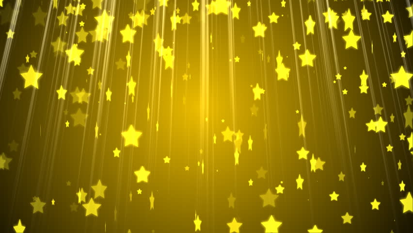 hd golden stars particles animated background stock