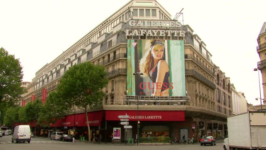 PARIS, FRANCE - AUGUST 2006: View of Galeries Lafayette in Paris, France