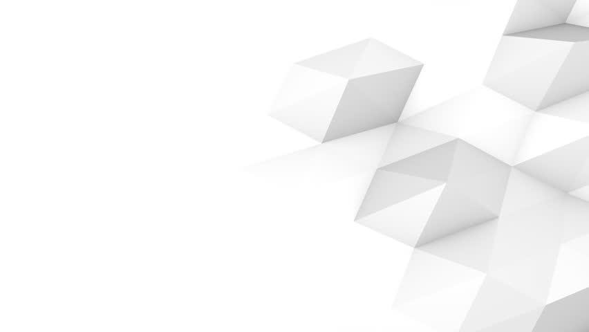 Grey White Tech Polygonal Motion Background Video