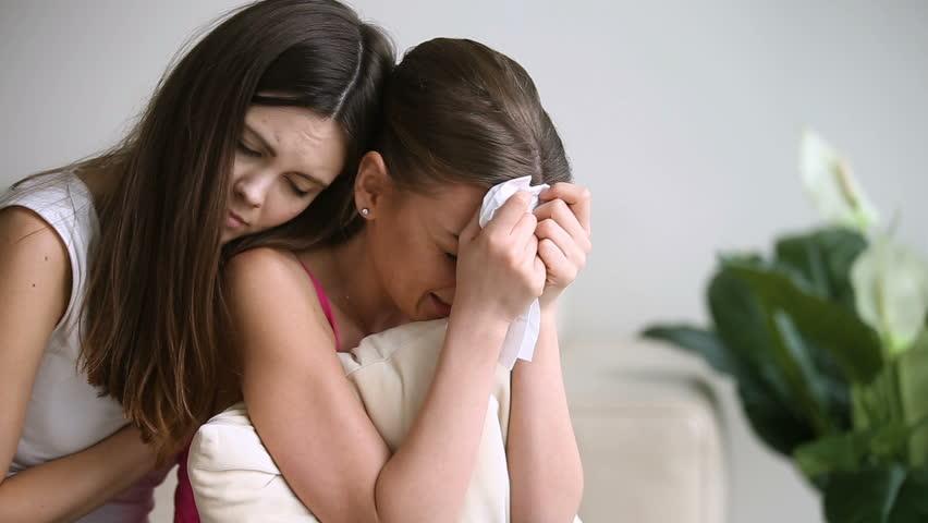 Upset Teenage Girl Crying, Wiping stock-videoer (100 % royaltyfri ...