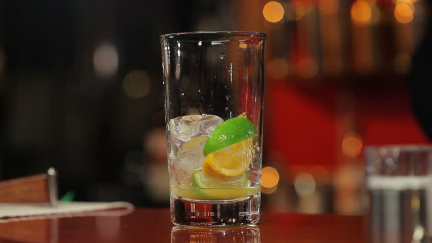 Cocktail  preparation (time-lapse) #2718278